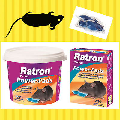 Ratron®  Pasten Power-Pads 29 ppm  freiverkäuflich Ratte Maus Nager Gift