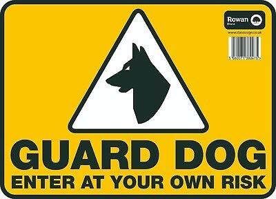 """Warning Signs Guard Dog CCTV in Operation Keep Clear Disabled Parking 9.5""""x13"""""""