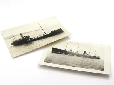 Two Vintage Maritime Shipping Tramp Ship Post Cards