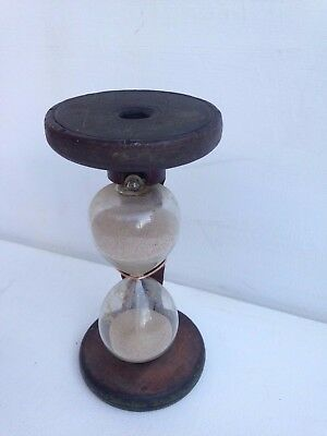 Wooden Singer Sewing Giant Bobbin Thread Industrial Factory Spool Egg Timer 7""