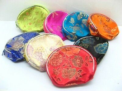12 Chinese Coin Purse with Zip Mixed Colour