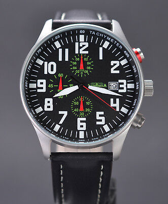 ASTROAVIA XL AIR CRAFT 21L NEW EDITION 6 ZEIGER CHRONOGRAPH 44mm FLIEGERUHR 21.3