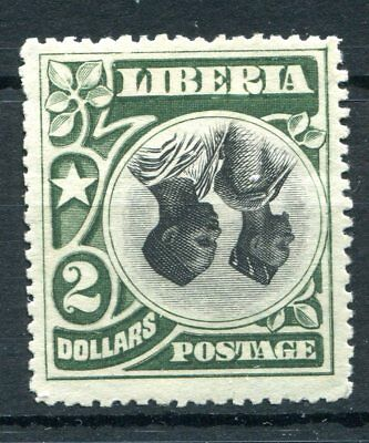 Liberia 1906 $2 inverted centre hinged mint