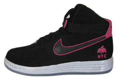 great fit c6fc6 cb660 NIKE Air Force One NYC Lunar Force Black Pink Shoe NEW YORK CITY 14 M 624184