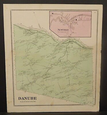New York Herkimer County Danube Township 1868   Y16#100