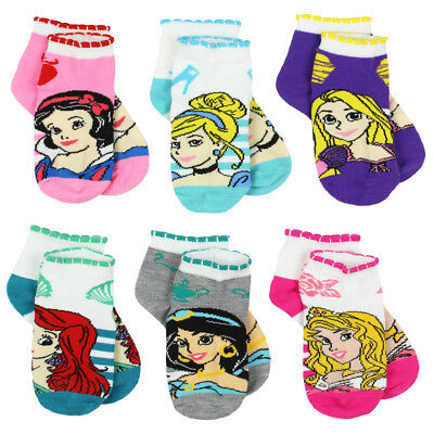Disney Princess Girls 6 pack Socks (Toddler/Little Kid/Big Kid) DP081GQS