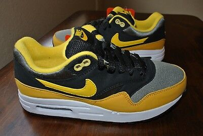 9d39948b33 Nike Air Max 1 (Gs) Youth Black Yellow Grey 807602 007 Us Youth Size