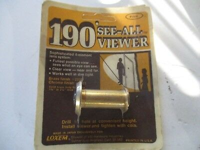 190° SEE-ALL BRASS Door Peephole Viewer Wide Angle Eye Spy Sight Hole Glass Lens