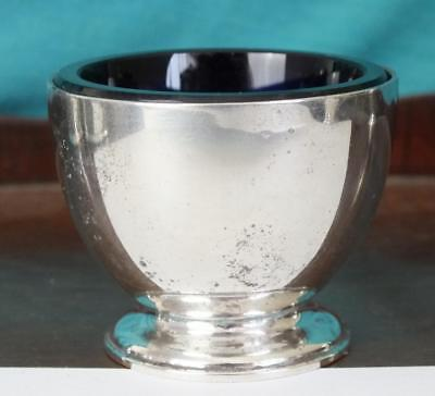 Fine HARRODS Art Deco Style Solid Silver Open Salt - Ldon 1943 - RW  Burbridge
