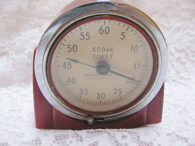 Vintage Kodak Art Deco Red Darkroom Timer Model #8239 Analog Face