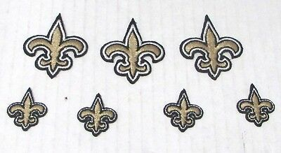 New Orleans Saints Logo Patches 3 Big 1 5in 4 Small 75in