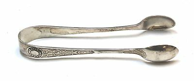 Antique SOLID SILVER Sugar Tongs Hallmarked 1901 Sheffield, 22.7g - W54