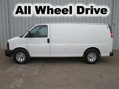 Express V-8 Gas All Wheel Drive 4X4 Cargo Tool Service Bins Utility Van Truck