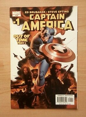 Marvel - Captain America #1  1St Cameo Appearance Winter Soldier Vfn- Jan 2005