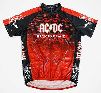 ef224f9f5 Primal Wear AC DC Back In Black Cycling Jersey Mens Short Sleeve with  DeFeet Sox