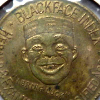 Vintage Black Americana Advertising good luck Token Blackface Index newspapers