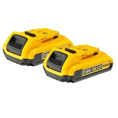 DeWalt Genuine DCB183 18V XR Li-ion 2.0ah Pack of 2 Batteries