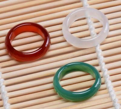 7#.8#.9# 10#  jade natural jade jewelry ring Black White Red  Pink green YQ002