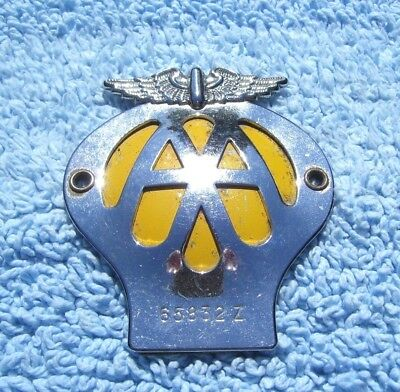 VINTAGE 1960s AA MOTORCYCLE SMALL SIZE BADGE -OLD VESPA/LAMBRETTA/SCOOTER EMBLEM
