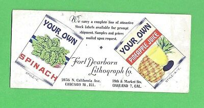 Vintage Ink Blotter from mid-century rural teacher's desk: YOUR OWN canned foods