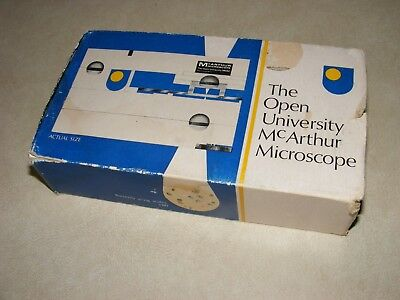 Vintage Open University McArthur Micropscope, UK Made by Scientific Optics, Rare