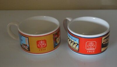 Nabisco National Biscuit Company Soup Cup Mug Bowl Uneeda PAIR NICE LOOK & ENJOY