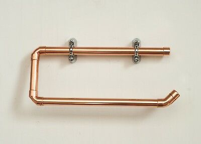 Handmade Copper & Chrome Wall Mounted Kitchen Roll Holder / Industrial Style