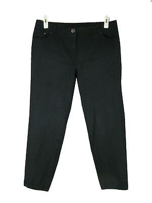 """CHICO'S So Slimming Jeans 2.5 Short Black Stretch Mid Rise Skinny Ankle 14 26.5"""""""