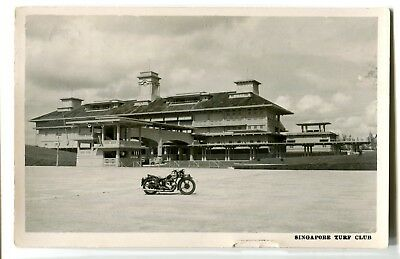 Singapore 1950 photographic Turf Club postcard used
