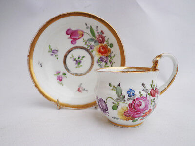 19th century antique Meissen -  cup saucer signed