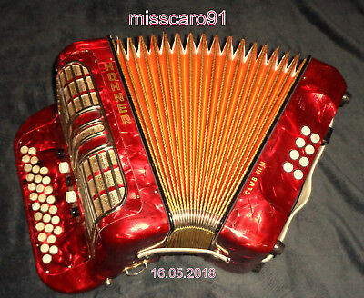 Made In Germany  Diatonic Hohner Club Iii M Accordion 5 Register + Case + Straps