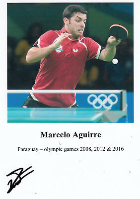 Tischtennis - Olympia 2016 - MARCELLO AGUIRRE (Paraguay)  **sign**