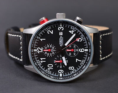 ASTROAVIA AIR CRAFT No.3L - 6 ZEIGER PROFI CHRONOGRAPH FLIEGERUHR NEU