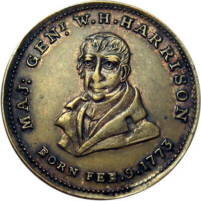 1840 William Henry Harrison Political Campaign Hard Times Token