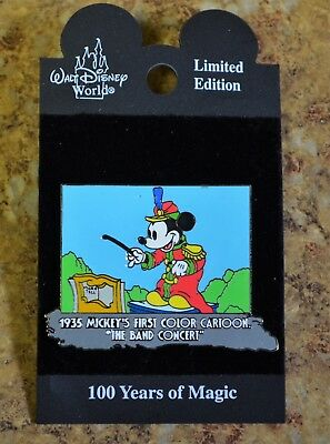 """WDW Disney Mickey's First Color Cartoon """"The Band Concert"""" LE Trading Pin New"""