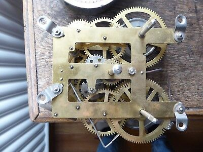 Vintage clock parts mechanisms India 10 ?Jewels key and weight
