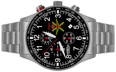 Astroavia Xl Air Craft Military Chronograph Fliegeruhr Famet Spain Edition Fn57E