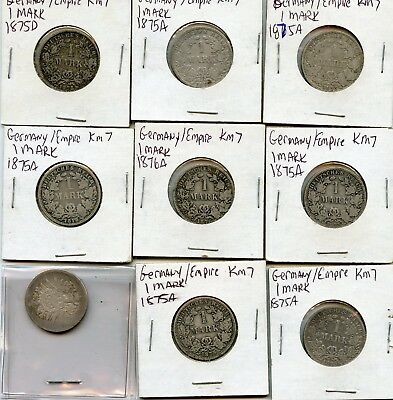Germany Silver 1 Mark Coins 1800/1900's From Collection!!!..starts @ 2.99