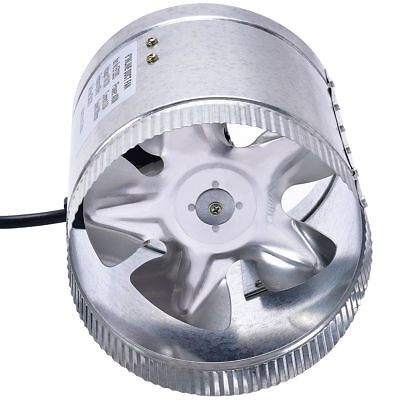 """4"""" 6"""" 8"""" Metal Inline Duct Booster Fan Air Exhaust Blower Cooling Ventilation"""