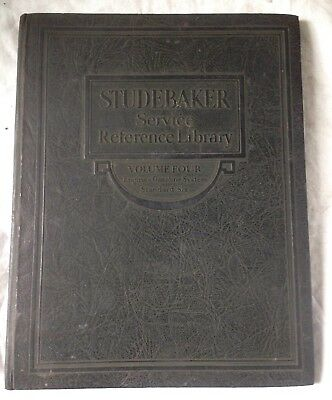 1927 Vintage Studebaker Service Reference Library Book Vol 4 Standard Six Engine