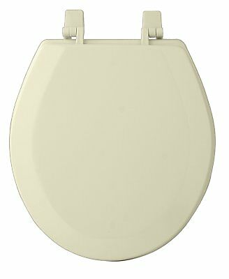 Standard Size Toilet Seat Lift Off Round Closed Front Ring Wood D Bowl Bone New