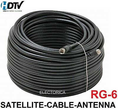 100FT EXTENSION RG6 Black Coaxial HD Satellite Dish Cable TV Antenna ...