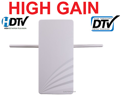High Gain Digital Hd Tv Uhf Vhf Dtv Outdoor Dtv Antenna +Built-In Amp Ota Indoor