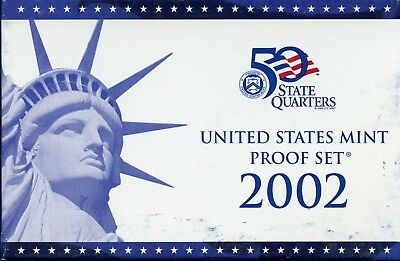 2002-S United States Mint 50 State Quarter Proof (10) Coin Set AB258