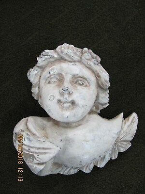 Antique Hand Carved Wooden Putti/angel