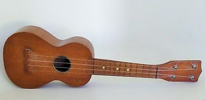 "Vintage Ukulele 21"" Long With Four String Unbranded Original Antique"