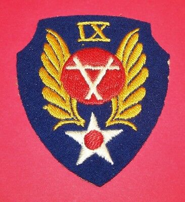 ORIGINAL CUT-EDGE WW2 BRITISH MADE AAF 9th ENGINEER COMMAND PATCH, RED CENTER!