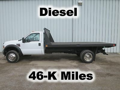 F450 Diesel 14Ft Flat Bed Body Delivery Haul Work Truck 46-K Low Miles