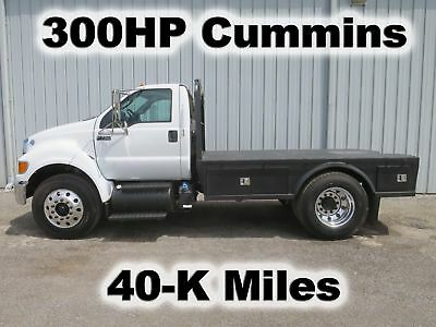 F750 300-Hp Cummins Flatbed Goose Neck Tow Western Trailer Haul Truck Non-Cdl