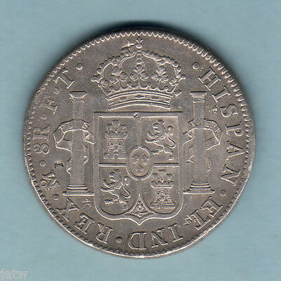 Mexico. 1803-MoFT  8 Reales..  Mexico Mint..  Part Lustre..   gVF